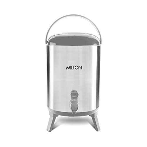 Milton Stellar 10 Thermosteel Water Jug, 9.3 Litres, Steel Plain