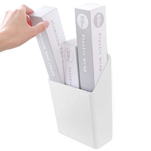 オカ PLYS Base (プリス ベイス) ホワイト 21.5cm×15.5cm×8cm プリスベイス ラップストッカー (マジックテープ付き)
