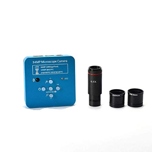 HAYEAR 34MP 1080P 60FPS HDMI USB Electronic Industrial Microscope Camera 0.5X 23.2mm Eyepiece Tube 30mm/30.5m Ring Adapter