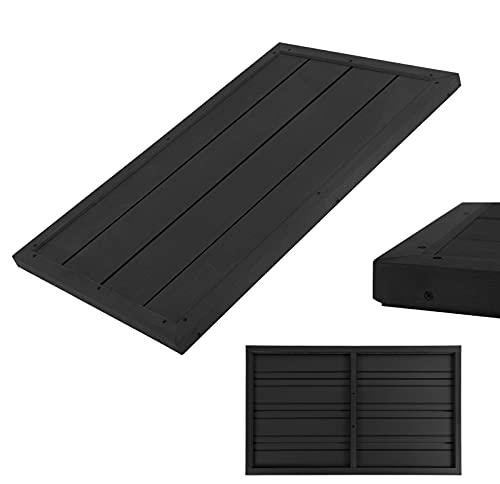 DMS® Bodenelement für Solardusche & Leitern rutschfeste Oberfläche Unterseite Bodenplatte Pool Gartendusche Aussendusche Pooldusche Leitern 101 x 63 x 5,5 cm WPC Anthrazit BES-01