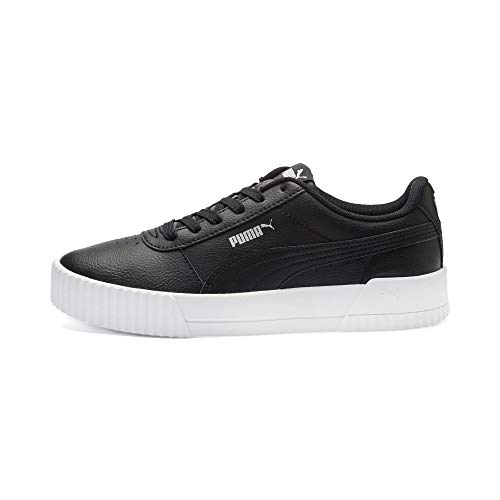PUMA Damskie buty sportowe Carina L, Puma Black White Silver, 38.5 EU