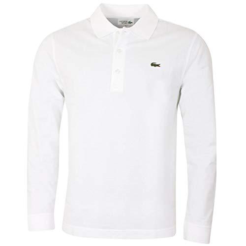 Lacoste Herren Poloshirt L1330-00, Weiß - Weiß, Small