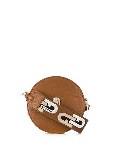 Luxury Fashion | Furla Dames 1057275 Bruin Leer Schoudertassen | Lente-zomer 20