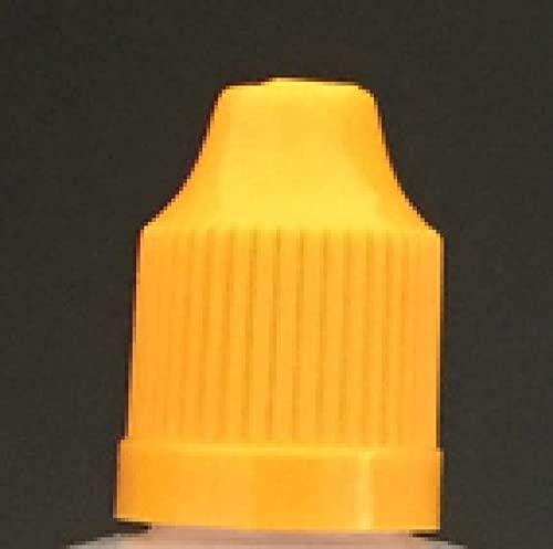 WOODEEL 100 unids Botellas de líquido vacío 3ML 5ml 10ml 15ml 20ml 30ml 50ml Botella de plástico de plástico de Pet con Tapas de Prueba de niños(Yellow Caps,10ml Pet)