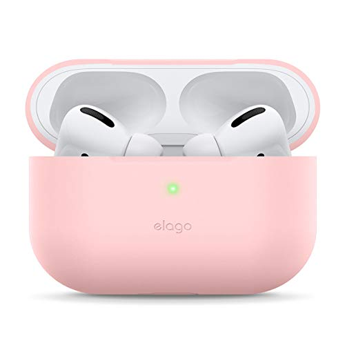 elago Slim Fit Funda Silicona Compatible con Apple AirPods Pro (2019) - 360° Protección de Cuerpo Completo, Premium Silicona [Ajuste Probado] (Lovely Rosa)