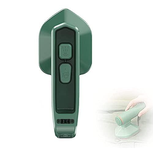 Micro plancha de vapor profesional portátil, mini máquina de planchar portátil plancha de vapor plegable inalámbrica, plancha de vapor de mano, adecuada para el hogar y viajes (Green)