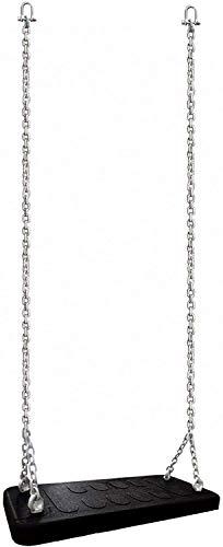 Loggyland Schaukelsitz Gummi extra breit und stabil - Erwachsenenschaukel - schwarz - Schaukelbrett Brettschaukel