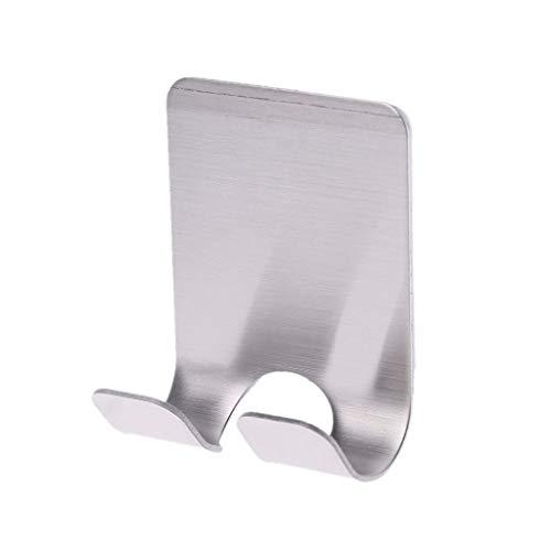 ZJL220 Soporte para enchufe de maquinilla de afeitar con gancho autoadhesivo de acero inoxidable para colgar en la pared o en la puerta de almacenamiento