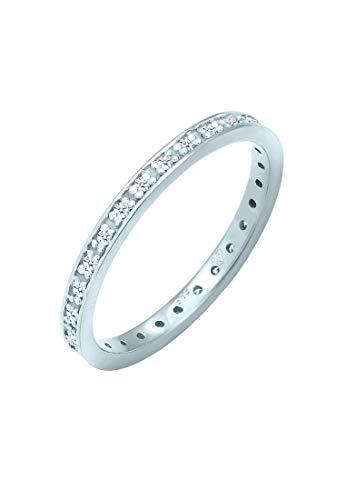 DIAMORE Ring Damen Aufsteckring mit Diamant (0.28 ct.) in 585 Weißgold