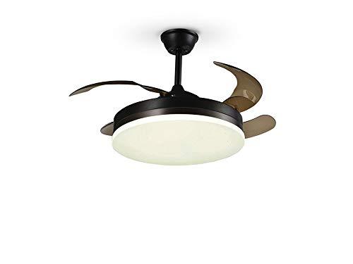 VENTO - SCHULLER Ventilador de techo negro aspas oculas - Motor DC - Artepal Iluminación