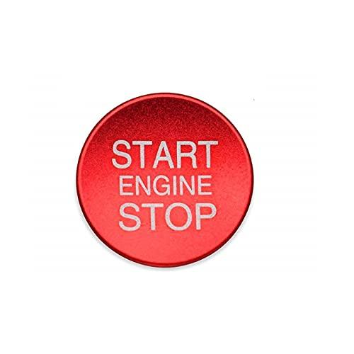 Lega di alluminio Motore Start Stop Pulsante Copertura Trim Decorazione Interruttore di accensione Pulsante Cover Sticker per Alfa Romeo Giulietta Stelvio Mito 147 156 159 166 (Red)