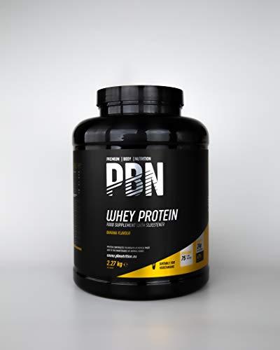 avis gout whey professionnel Premium Body Nutrition-Whey Protein Powder, 2,27 kg, saveur de banane