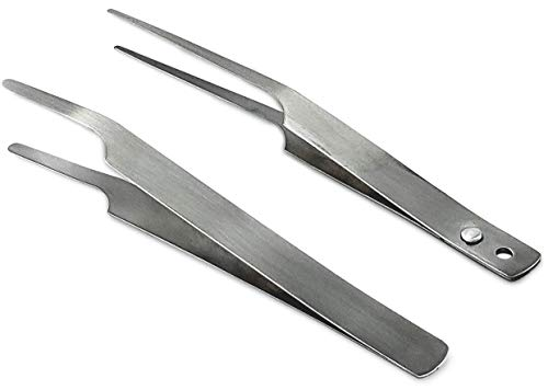 DR Instruments Entomology Forceps, one Long Points and one Short Broad Points. Ideal for a Delegate Entomology Work. Superlight Flexible Stainless-Steel, Construction. Set of 2.