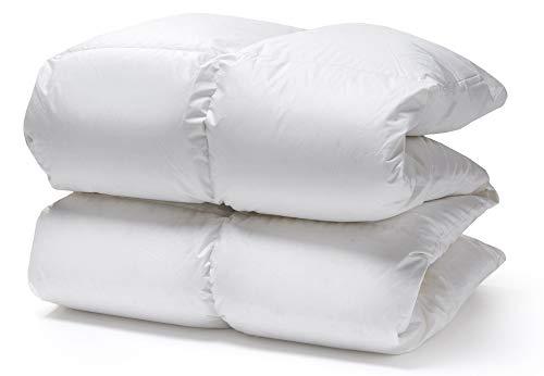White Cloudz - Relleno nórdico Graz Invierno Plus/Extra cálido - edredón Natural de 90% plumón Duvet Europeo - Tejido Exterior 100% algodón percal - Lavable 60°C - 260 x 220 cm