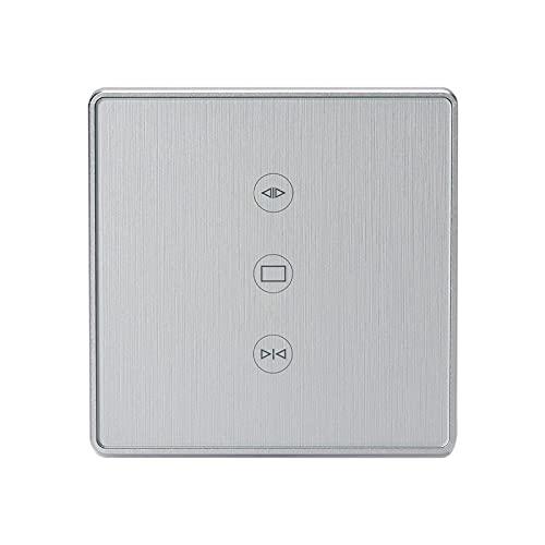 YGLONG Interruptor Persianas WiFi Interruptor de Cortina WiFi para Cortina eléctrica Cortina persiana Enrollable Interruptor De Cortina (Color : Silver)