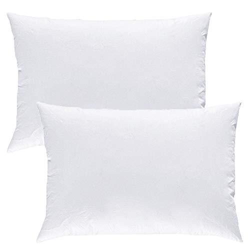 Mack - Premium Kissen Set mit Federfüllung | Federkissen für einen erholsamen Schlaf | 40x60 cm - 2er Set