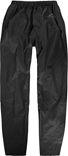 normani Unisex Erwachsene Regenhose, 100% wasserdichte Überhose Farbe Schwarz Größe S