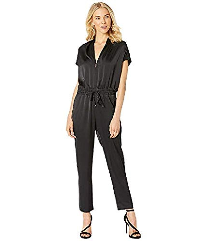 [LAUREN Ralph Lauren(ローレンラルフローレン)] レディースウェア?ジャケット等 Draped Straight Leg Jumpsuit Polo Black US 8 (L) [並行輸入品]