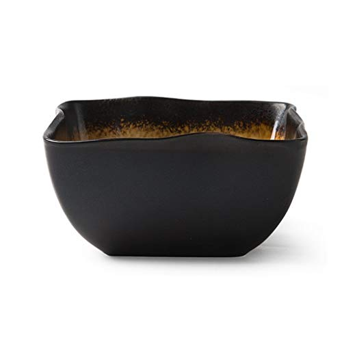 ZLININ Soup Bowl de cerámica Pot de Frutas y Verduras Placa de Ensalada Blender Pasta de Grano Bandeja Creativa Vajilla 15.5x7.3cm