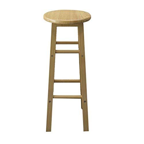Heces de madera maciza para bar y silla de bar, taburete alto, taburete de bar, taburete alto, taburete de bar, retro, 70/80 cm, color: negro, blanco y beige (color beige, tamaño: 70 cm)