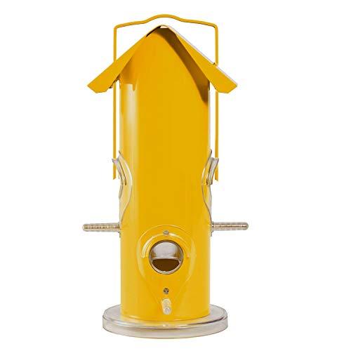 Perky-Pet Metall-Vogelfutterstation / Futtersilo zum Aufhängen /Für 0,3 kg Vogelfutter / Gelb - Mod. 390