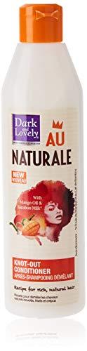 Dark & Lovely - Après Shampooing Démêlant au Naturale pour Cheveux Crépus, Frisés, Bouclés Naturels à l'Huile de Mangue et Lait de Bambou - 250ml