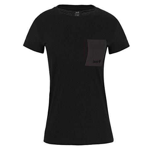 IZAS Dakota T-Shirt en Coton Femme Noir/Gris Foncé FR: XS (Taille Fabricant: XS)