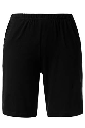 Ulla Popken Damen Jersey Shorts, Schwarz 10, 50