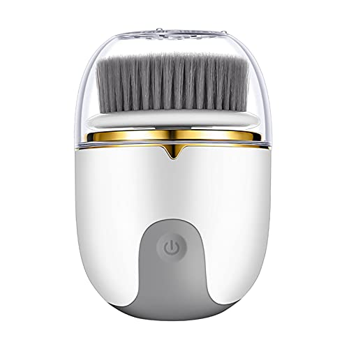 Oshhni Cepillo de limpieza facial impermeable 3 cabezales de cepillo exfoliante portátil 2 velocidades limpiador facial masajeador limpieza profunda