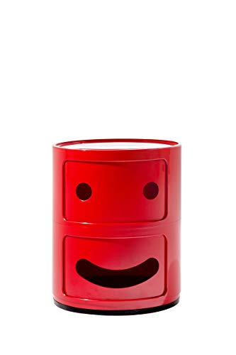 Kartell, Componibile Smile, Contenitore, Rosso, 32 x 32 x 40 cm, Smile 1