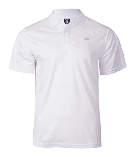 martes Herren Solo Funktions Polo Shirt, White/Reflective, L