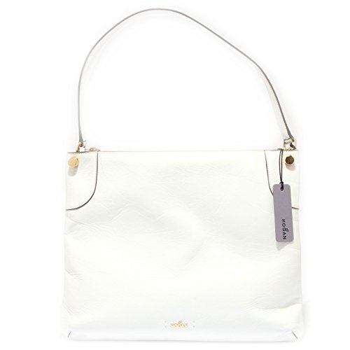 Hogan 9758R borsa donna FLAT HOBO bianco hand bag woman [TAGLIA UNICA]