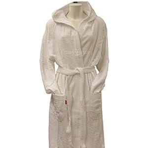 Accappatoio Tinta Unita Viareggio Gabel con cappuccio e tasche 100% cotone-Bianco-XS