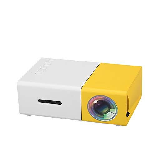 ZUEN Mini LCD LED Proyector 400-600LM 1080P Video 320 X 240 Pixel Mejor Proyector casero Amarillo