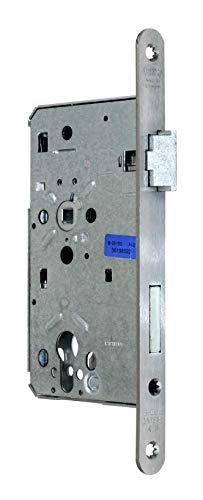 BKS Zimmer Türschloss Objektqualität 0515 Kl. III für Profilzylinder 60/72/8, Edelstahl Stulp: 20 x 235mm abgerundet, DIN Rechts incl. SN-TEC® Montageset