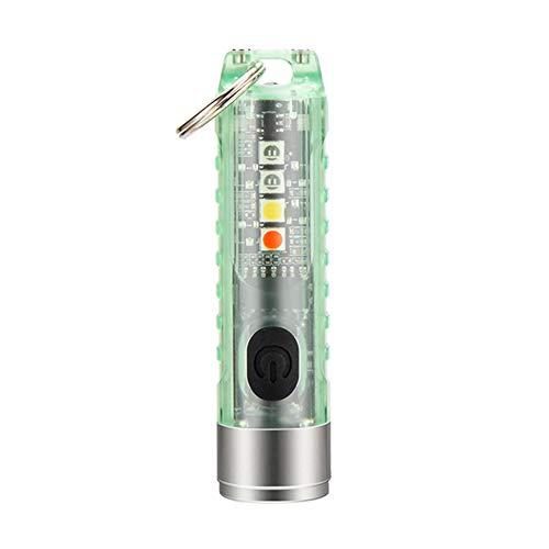 Minilinterna recargable de 400 lúmenes, LED, portátil, con llavero, resistente al agua IP66, multifunción, magnética, USB