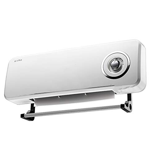 HOHO 2000W mobile wall-mounted ceramic heater, best energy-saving waterproof bathroom heater, intelligent digital remote control, with drying rack 220V
