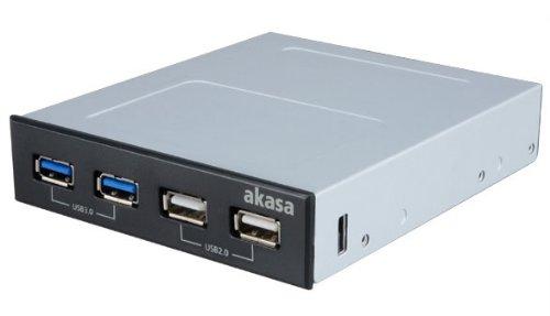 "Akasa Front 3,5\"" InterConnect S 2xUSB2.0 2xUSB3.0, AK-ICR-12V3"