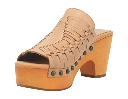 Dingo Western Shoes Womens Dreamweaver Leather Clog 7 M Sand DI349