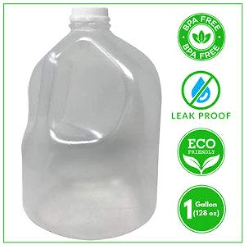 BPA Free 1 Gallon Water Jug Bottle Reusable Odorless Leak Proof Free Cap Ergonomic Handle