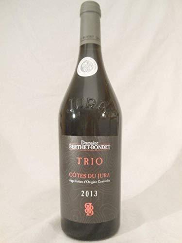 côtes du jura domaine berthet-bondet trio rouge 2013 - jura - une bouteille de vin