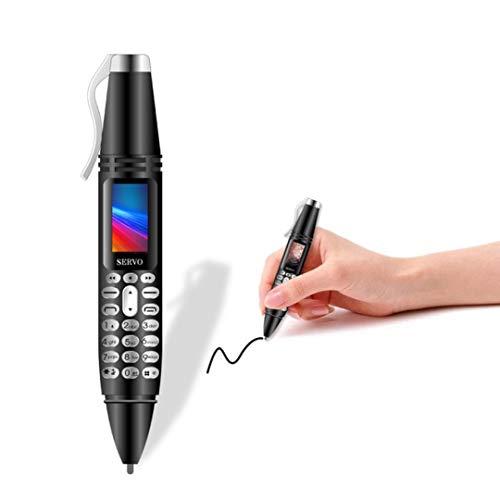 SERVO K07 Mini Pen Cellphone Dual SIM Camera Flashlight Bluetooth Dialer Mobile Phones with Recording Pen Unlocked (Black)