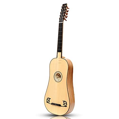 Heartland Sellas - Guitarra barroca, 5 platos de madera de lacewood