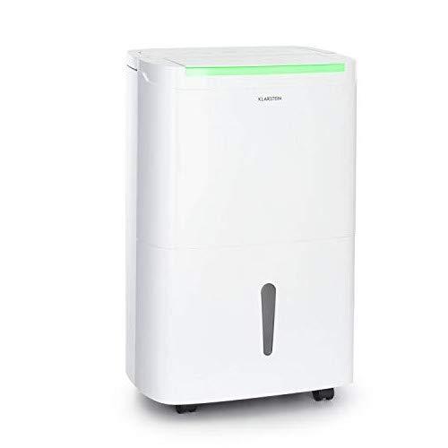 KLARSTEIN DryFy Connect - Deumidificatore, Interfaccia WiFi, Serbatoio da 7 L, Target Umidità Programmabile, Timer, Silenzioso, 360 m³ h, Assorbimento 50 L 24H, Bianco