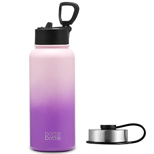 水筒 1000ml 子供 直飲み 保温保冷 真空断熱 ボトル ステンレス ウォーターボトル 持ち運び パープル BOTTLE BOTTLE