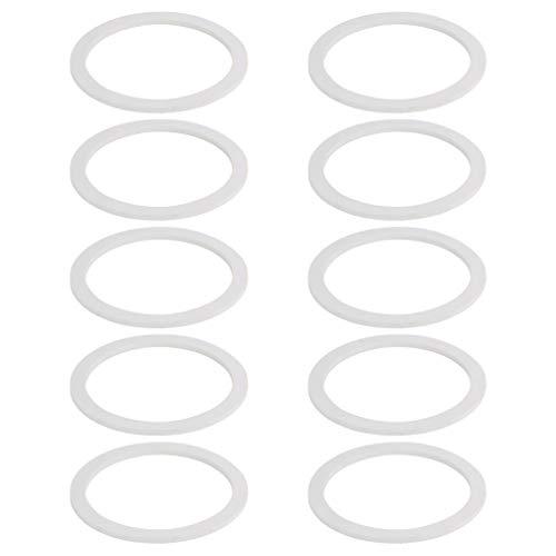 DOITOOL Anillos de Sellado de Silicona 10 Piezas de Anillo de Junta para Tapas de Tarro de Albañil Ollas de Aluminio para Cafetera (4 Tazas)