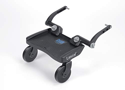Lascal BuggyBoard Mini 3D, Plateforme poussette à la surface structrurée, Accessoire poussette pour enfants de 2 à 6 ans (22 kg), Pour tous landaus & poussettes, bleu
