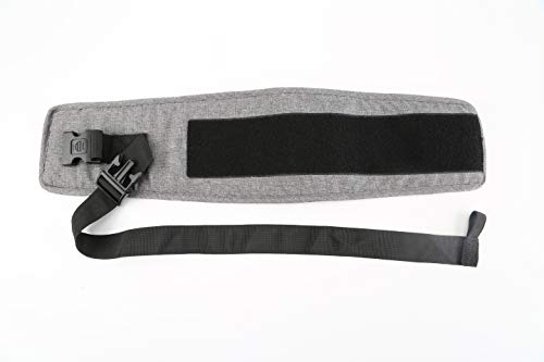 Tushbaby Waistband Extender - Extension Belt, Custom Fit, Adjustable, Machine Washable, Ergonomic Child + Infant + Toddler Carrier, Grey