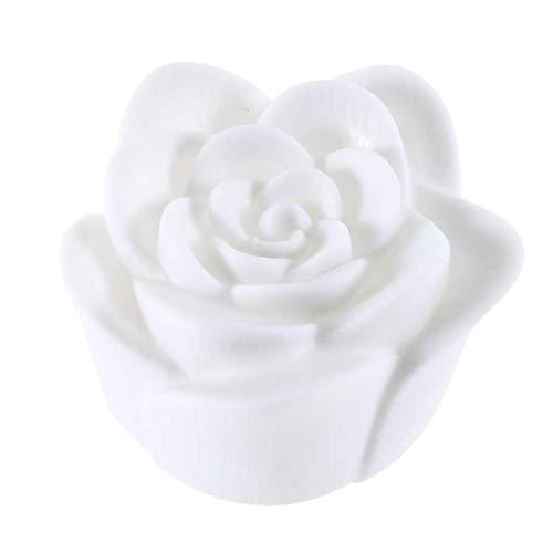 Losenlli Hermoso diseño que cambia 7 colores flor color de rosa llevó la luz de la noche luz de la vela de la lámpara romántica ideal para la decoración de la fiesta de la casa