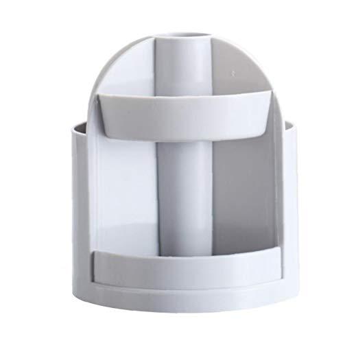 NIDONE lapicera Multifuncional Cepillo cosméticos de plástico Organizador de Escritorio Pen Office Supplies Jar Accesorios de Escritorio Gris